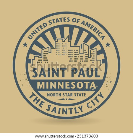 Grunge rubber stamp with name of Saint Paul, Minnesota, vector illustration - stock vector