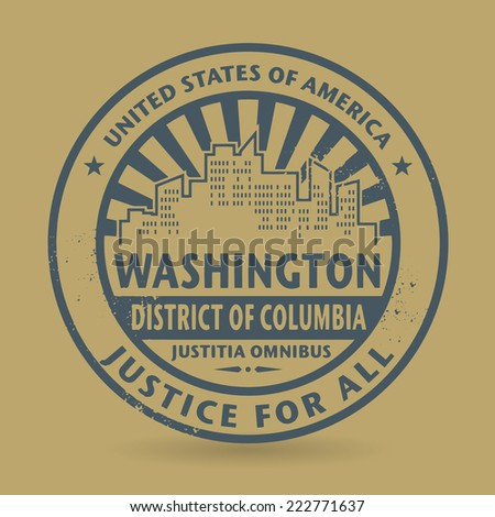Grunge rubber stamp with name of Washington, District of Columbia vector illustration - stock vector