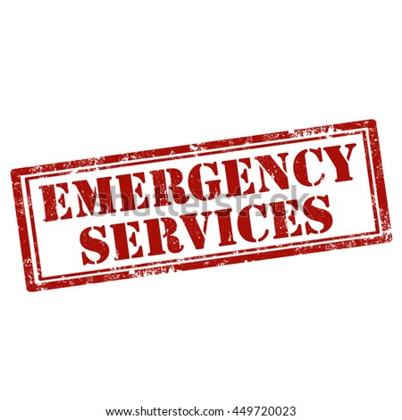 Grunge rubber stamp with text Emergency Services,vector illustration - stock vector