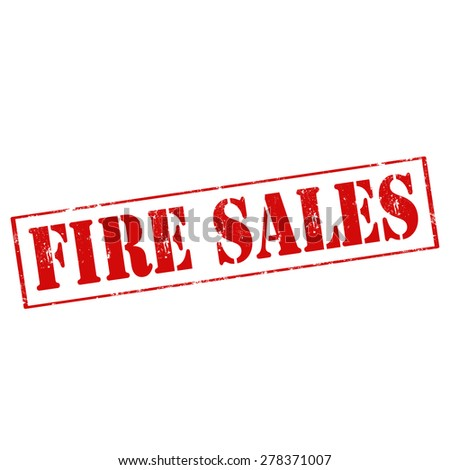 Grunge rubber stamp with text Fire Sales,vector illustration - stock vector