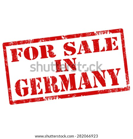 Grunge rubber stamp with text For Sale In Germany,vector illustration - stock vector