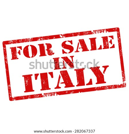 Grunge rubber stamp with text For Sale In Italy,vector illustration - stock vector
