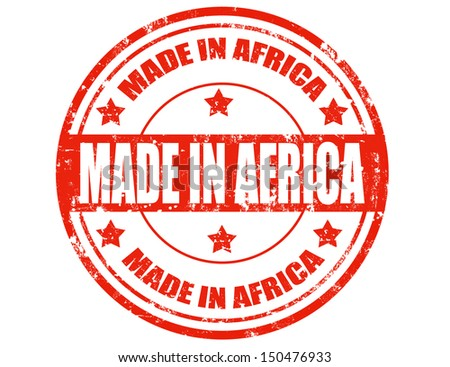 Grunge rubber stamp with text Made in Africa,vector illustration - stock vector