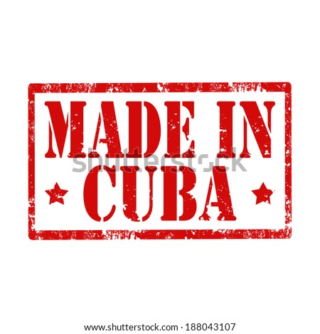 Grunge rubber stamp with text Made In Cuba,vector illustration - stock vector
