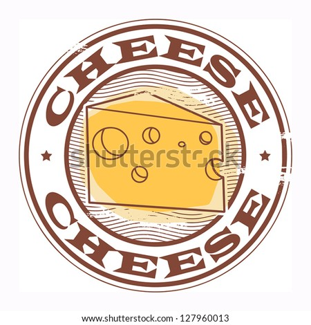 Grunge rubber stamp with the text Cheese written inside, vector illustration - stock vector