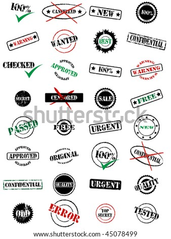 grunge rubber stamps - stock vector