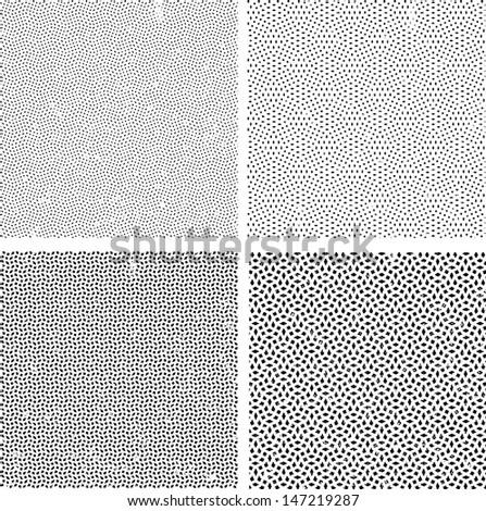 Grunge set rectangles. Vector illustration.  - stock vector