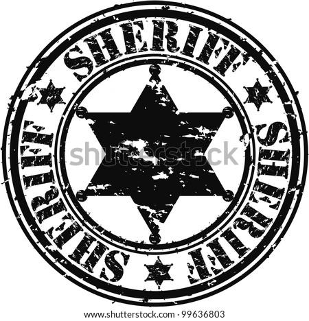 Grunge sheriff star, vector illustration - stock vector