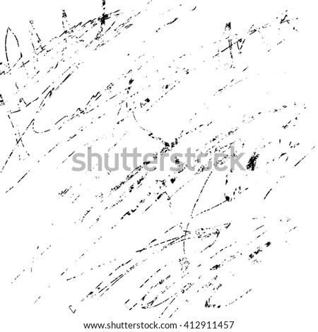 grunge sketch effect texture, scratched plate distressed textured and background, vector design element - stock vector
