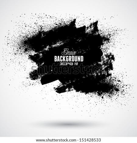Grunge splash banner - stock vector