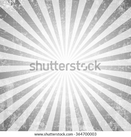 Grunge style abstract starburst & sunburst background with faded and desaturated soft tones - stock vector