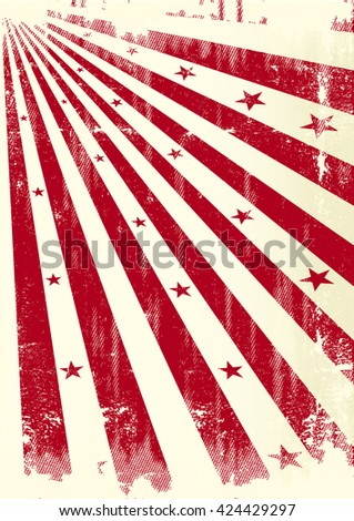 grunge sunbeams paper. A grunge poster with red sunbeams - stock vector