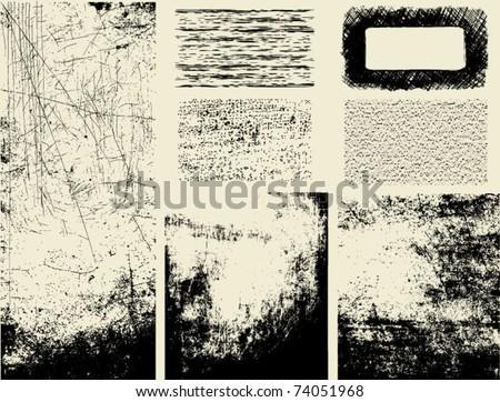 Grunge textures - stock vector