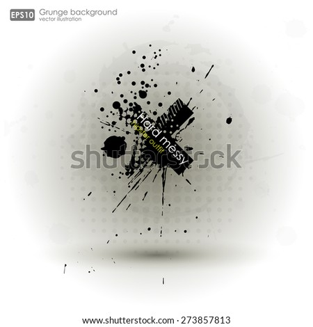 Grunge textures. Abstract vector grunge background poster for party. Grunge print for t-shirt. Abstract dirt backgrounds texture. Grunge banner with an inky dribble strip with copy space.  - stock vector