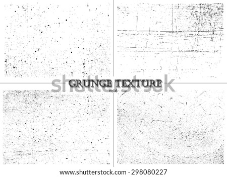 Grunge textures.Distress textures set.Vector template. - stock vector