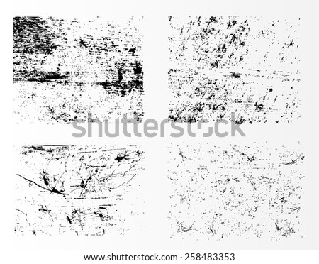 Grunge textures.Grunge background set.Abstract vector template. - stock vector