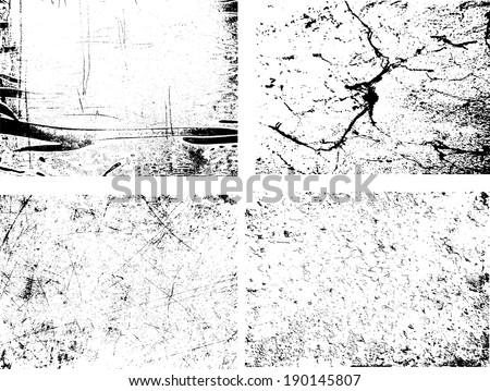 grunge textures set. background. vector illustration.  - stock vector