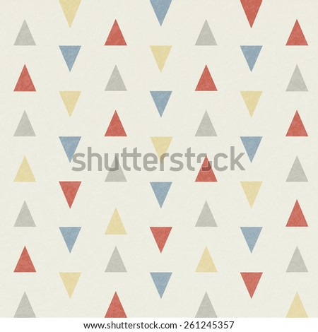 Grunge triangle pattern, vector illustration. - stock vector