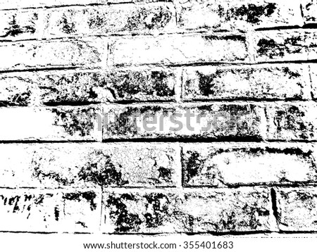 Grunge Urban Background.Texture Vector.Dust Overlay Distress Grain ,Simply Place illustration over any Object to Create grungy Effect .abstract,splattered , dirty,poster for your design.  Brick Wall . - stock vector