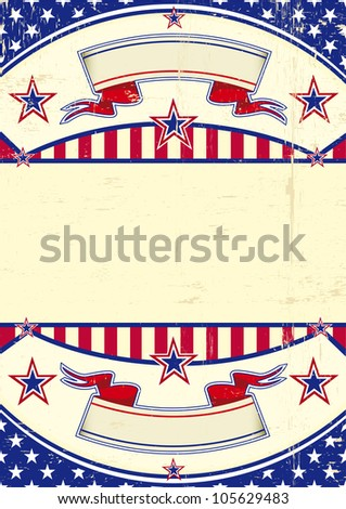Grunge USA. A patriotic background for you - stock vector