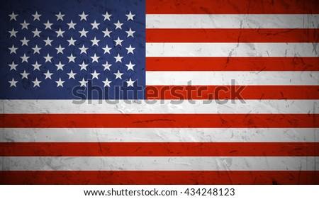 Grunge USA Flag. - stock vector