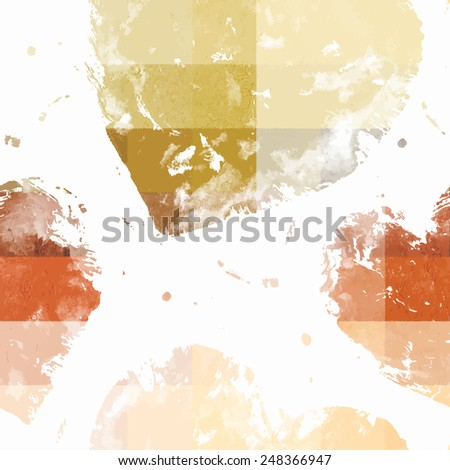 Grunge vector seamless pattern with hand painted hearts for textile or web - stock vector