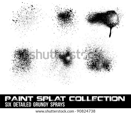 Grunge Vector Splat Set - stock vector