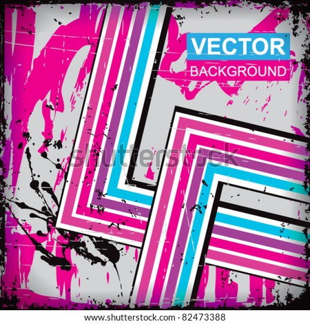 Grunge vector stripes background - stock vector