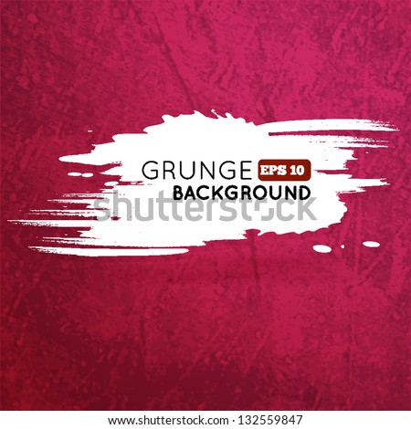 Grunge vine background with splash banner for your text. Vector illustration - stock vector