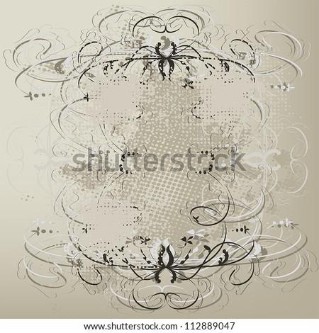 Grunge vintage old paper background - stock vector