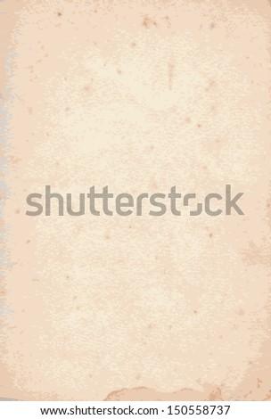 Grunge vintage old paper texture. Brown background - stock vector