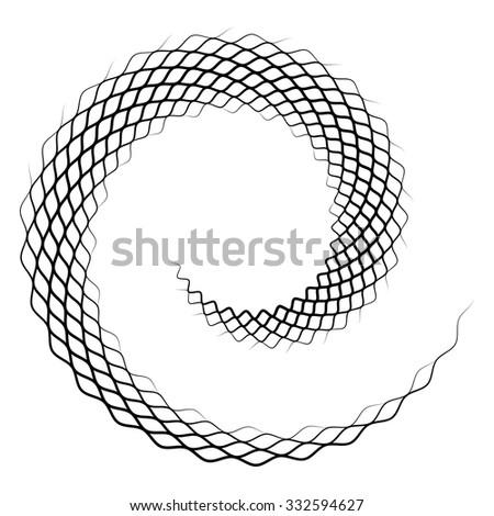 Grunge vortex in white background - vector illustration - stock vector