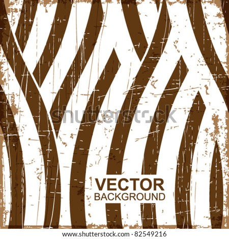 Grunge wave stripes vector background - stock vector