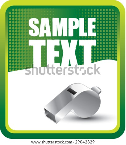 grunge whistle background - stock vector