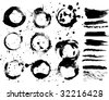 Grungy circles and elements collection - stock vector