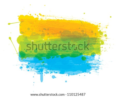Grungy colored banner ready for your text - stock vector