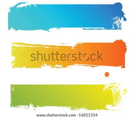 Grungy colored banners ready for your text - stock vector
