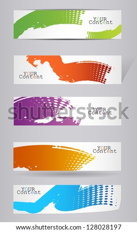 Grungy colored banners ready for your text - vector illustration - stock vector