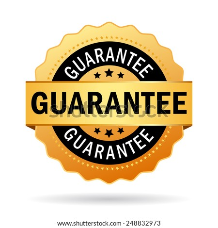 Guarantee business icon - stock vector