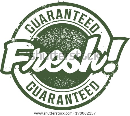 Guaranteed Fresh Rubber Stamp - stock vector