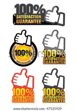 guaranteed label - stock vector