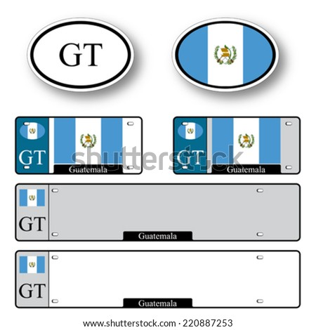guatemala auto set against white background, abstract vector art illustration, image contains transparency - stock vector
