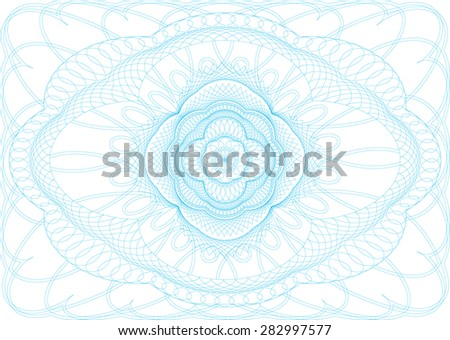 Guilloche background for voucher, certificate, diploma, thickness of the lines can be changed easily. - stock vector