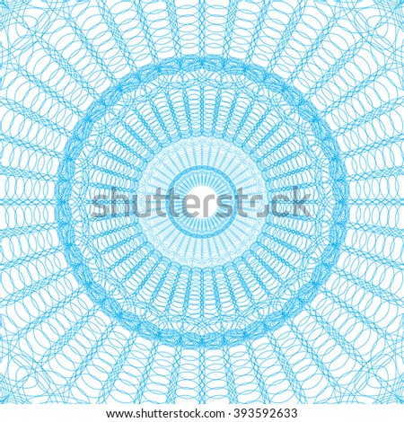 Guilloche pattern rosette for  play money or other security papers    Guilloche for certificate, diploma, voucher, currency Vector Illustration - stock vector