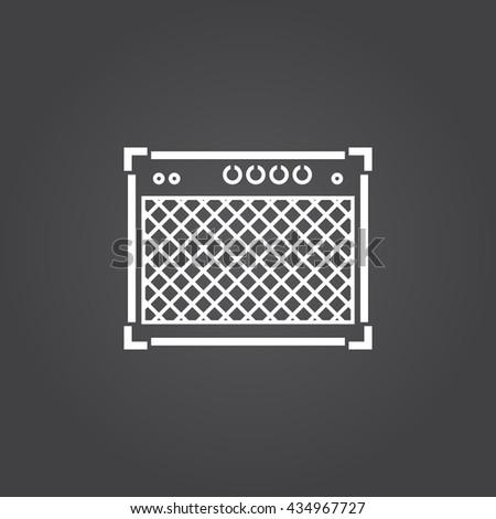 guitar amp Icon - stock vector
