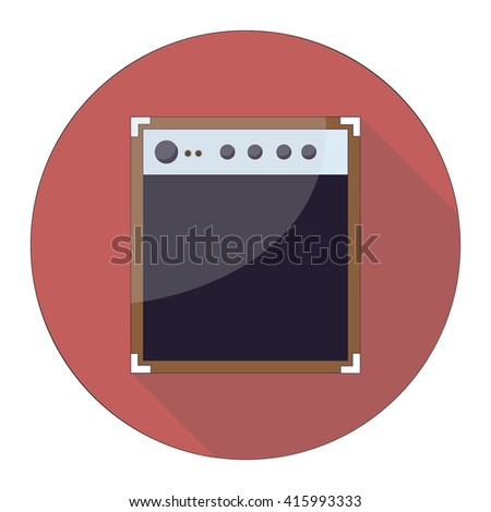 Guitar Amplifier with shadow. - stock vector