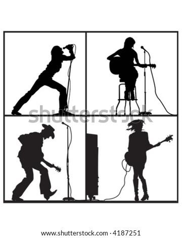 Guitar Fever - stock vector