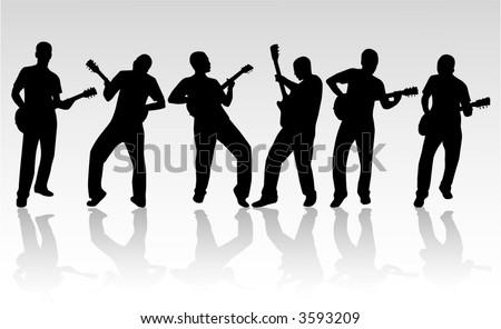 Guitar man - stock vector