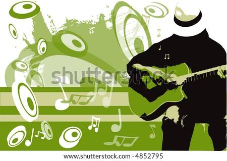 guitar player - stock vector
