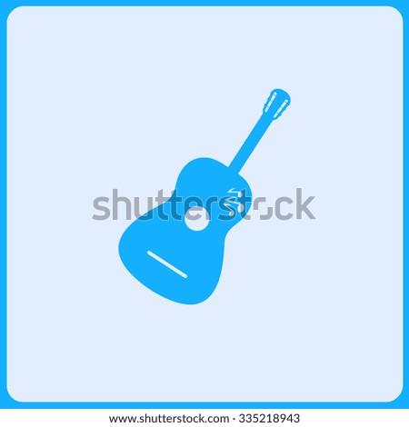 Guitar vector icon. Flat design style - stock vector